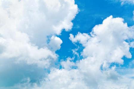 cumulus cloud: blue sky Stock Photo