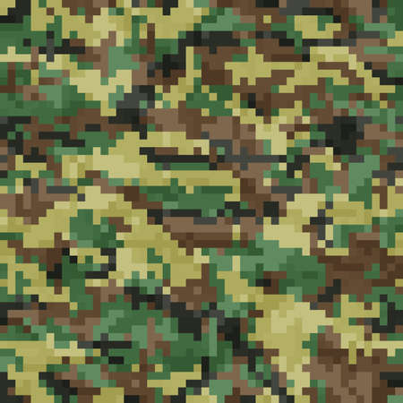 acu: Seamless, Digital Camouflage pattern vector