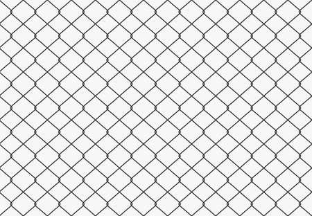 金属は、フェンスのシームレスなパターンを有線しました。ベクトル