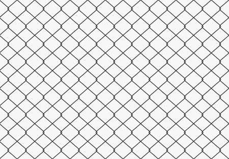 Metallic wired Fence seamless pattern. Vector Vectores