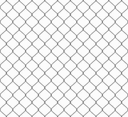 Metallic wired Fence seamless pattern. Vector 向量圖像