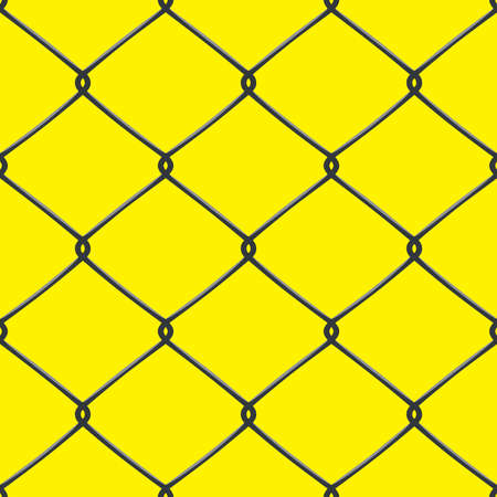 detain: Metallic wired Fence seamless pattern. Vector Illustration