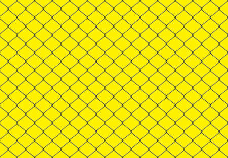 Metallic wired Fence seamless pattern. Vector Illustration