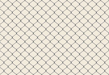 Metallic wired Fence seamless pattern. Vector Иллюстрация