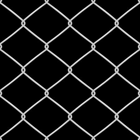 防衛: 金属は、フェンスのシームレスなパターンを有線しました。ベクトル