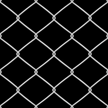 defence: Metallic wired Fence seamless pattern. Vector Illustration