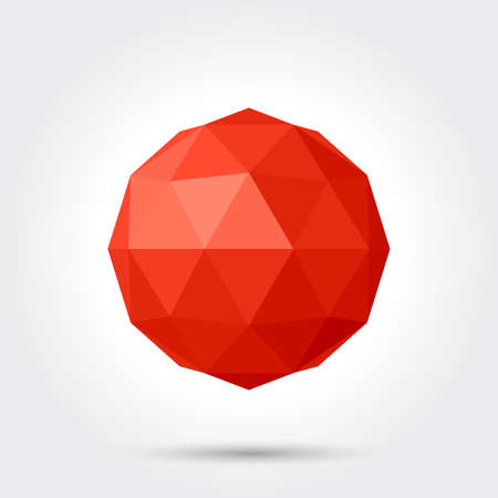 spherical: 3d vector low poly spherical ball