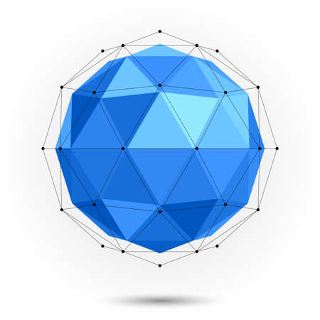 Sphère basse poly abstraite. Vecteur