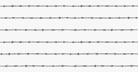 Stahl rostigen barbwire nahtlose Muster Standard-Bild - 73151620