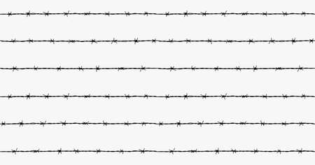 Steel rusty barbwire seamless pattern