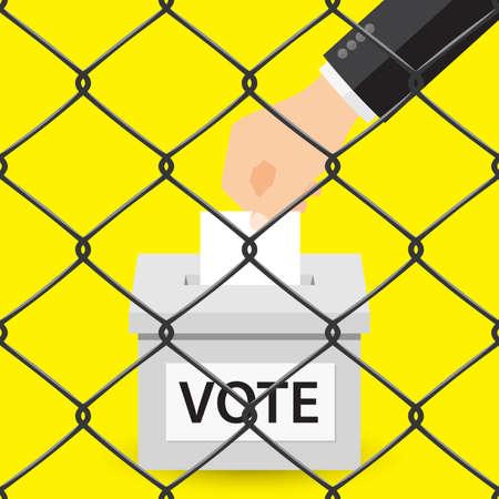 voter registration: Voting concept