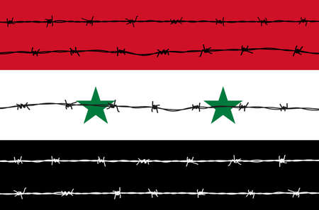 iron defense: Syria flag Illustration