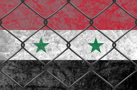 Syria flag Illustration