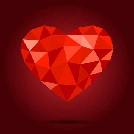 triangle shaped: love diamond