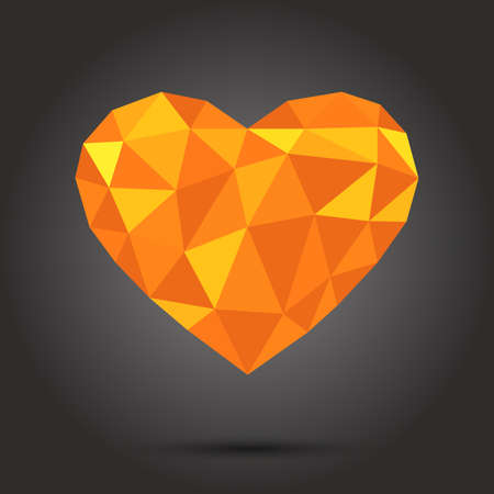 Lovely illustration of a love diamond Illustration