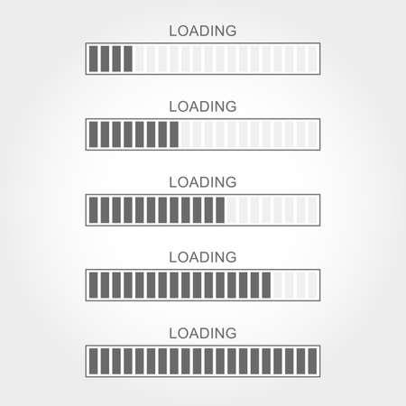 Icono de carga de ilustración vectorial.