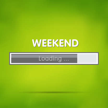 Loading weekend Иллюстрация