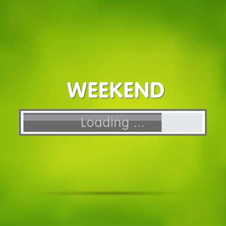 Loading weekend Иллюстрация