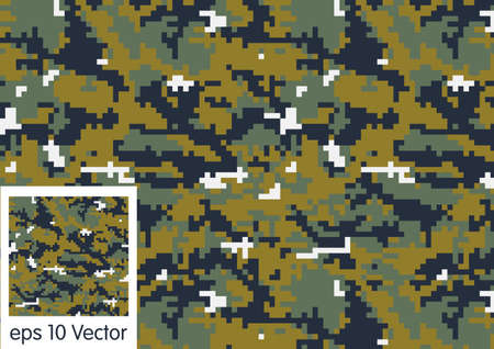 color conceal: Digital Woodland Camouflage pattern vector Illustration