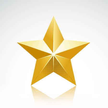five star: Gold star elegant Illustration