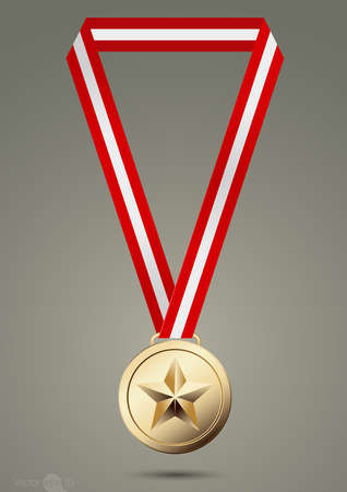 article icon: Gold medals.vector