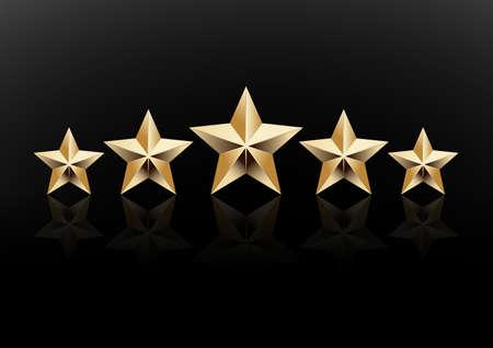 5 star icon vector illustration