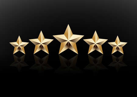 5 stelle icona illustrazione vettoriale Vettoriali