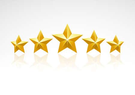 Cinco estrellas de clasificación de iconos