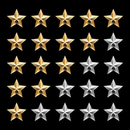 reviews: Five star ranking icons