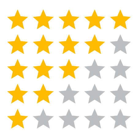 Five star ranking icons