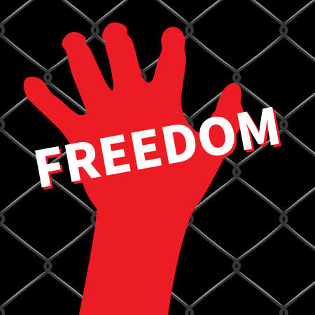security symbol: Freedom hand icon