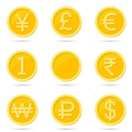 Munt iconen vector illustratie op witte achtergrond.