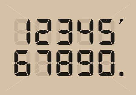 numeric: Calculator digital numbers