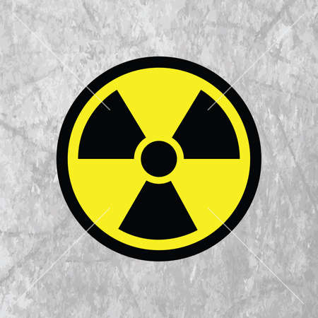 cartoon bomb: nuclear icon Illustration