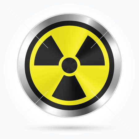 Icône nucléaire illustration vectorielle. Banque d'images - 89106654
