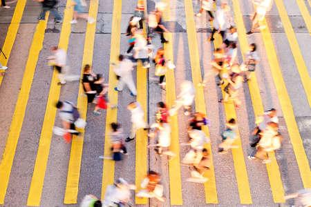 Hong Kong Rush Hour Stock Photo
