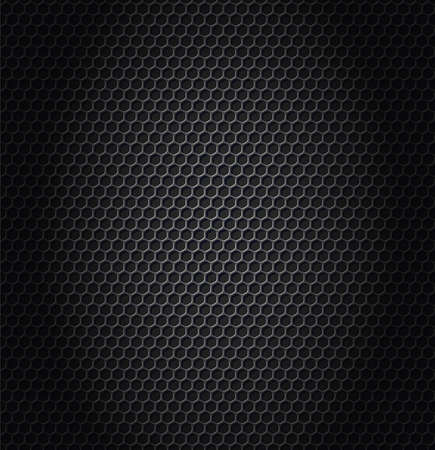 hexagon metallic texture Vector illustration.