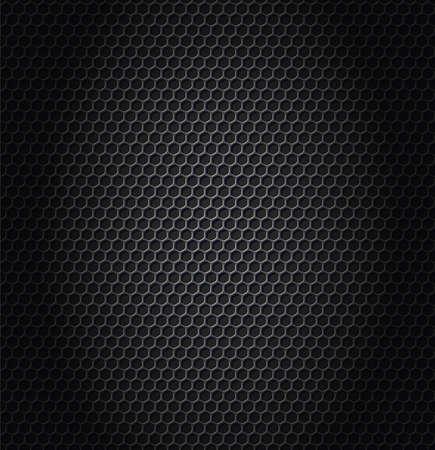 Ilustração do vetor da textura metálica do hexágono.