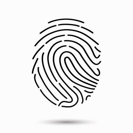 fingerprint numérisation icône Vecteurs