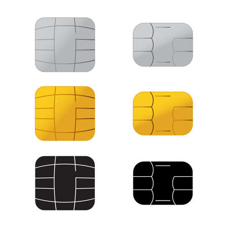 Chip of credit card icon Vector illustration. Illustration