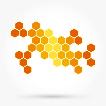 Honeycomb background texture template Иллюстрация