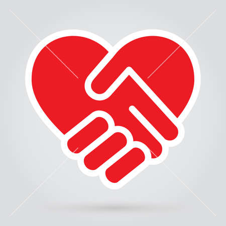 Heart handshake