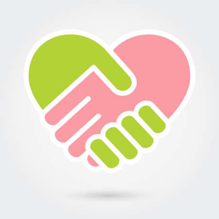 Heart handshake Icon