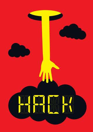 Hacker steal your data concept Archivio Fotografico - 121695462
