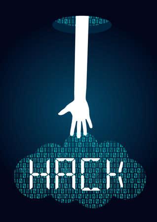 Hacker Stealing Data Concept Archivio Fotografico - 121934294