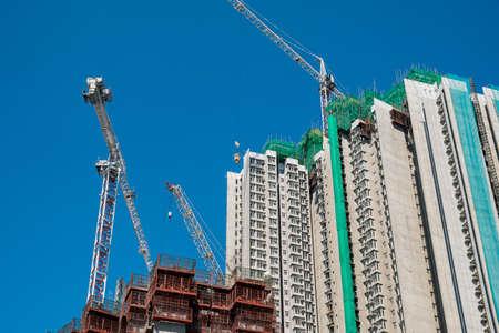Housing and Construction in Hong Kong Archivio Fotografico - 125083826