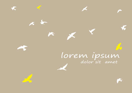 Silhouette of a flock of flying birds Archivio Fotografico - 126860749