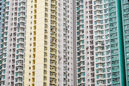 Hong Kong's apartment Archivio Fotografico - 128430667