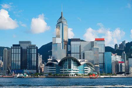 Hong Kong Skyline and Victoria Harbor Archivio Fotografico - 128430756