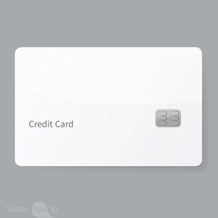Financial icon credit card template